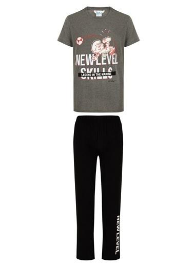 Penti Erkek Smurf Pijama Takımı Renkli
